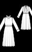 Платье с воротником-стойкой и бантом на спинке - фото 3