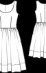 Сукня без рукавів з пишною спідницею - фото 3