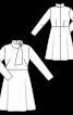 Платье отрезное с воротником-шарфом - фото 3