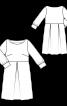 Сукня із зустрічними складками на спідниці - фото 3