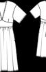 Сукня шифонова з короткими рукавами - фото 3