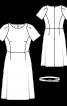 Сукня-футляр відрізна з рукавами-реглан - фото 3