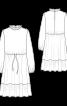 Платье отрезное с широкой оборкой - фото 3