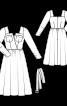 Сукня міді з пишною спідницею  - фото 3