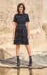Сукня з рукавами реглан і стоячим коміром - фото 1
