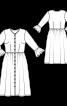 Платье отрезное с застежкой на пуговицы - фото 3