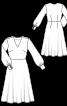 Платье с расклешенной юбкой миди - фото 3