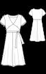 Сукня трикотажна з розкльошеною спідницею - фото 3