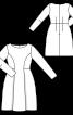 Платье отрезное с юбкой формы колокол - фото 3