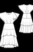 Сукня шовкова з хвилястими рукавами-крильцями - фото 3