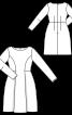 Сукня з рельєфними швами та м'якими складками - фото 3