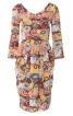 Сукня відрізна з V-подібними вирізами - фото 2