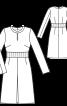 Сукня приталеного крою з вирізом-крапелькою - фото 3