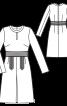 Сукня відрізна із зустрічною складкою - фото 3
