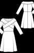 Сукня відрізна з перехрещеним коміром - фото 3