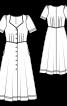 Сукня міді із наскрізною застібкою - фото 3