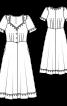 Сукня довжини міді з широким вирізом - фото 3