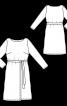 Сукня відрізна з декоративним полотнищем - фото 3