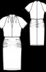 Сукня трикотажна зі зборками на спідниці - фото 3