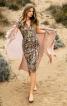 Сукня трикотажна зі зборками на спідниці - фото 1