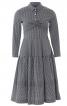 Сукня сорочкового крою із застібкою поло - фото 2