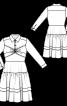 Сукня сорочкового крою із застібкою поло - фото 3