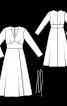 Сукня міді відрізна з глибоким вирізом - фото 3