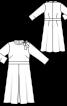 Сукня приталеного крою з коміром-бантом - фото 3