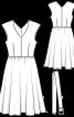 Сукня відрізна із спідницею-сонце - фото 3