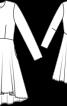 Сукня з розкльошеною спідницею з асиметричним низом - фото 3
