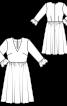 Сукня відрізна з V-подібним вирізом - фото 3