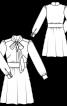 Сукня відрізна з коміром-шарфом - фото 3