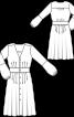 Сукня з V-подібним вирізом і пишними рукавами - фото 3