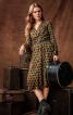 Сукня з V-подібним вирізом і пишними рукавами - фото 1