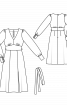 Платье отрезное с пышными рукавами - фото 3