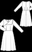 Платье отрезное с оригинальным лифом - фото 3