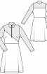 Сукня в спортивному стилі з високим коміром - фото 3