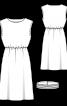 Сукня з приспущеними проймами і поясом на кнопках - фото 3