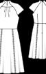 Сукня з рукавами реглан і коміром-стойкою - фото 3