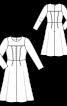 Платье отрезное с лифом оригинального кроя - фото 3