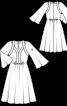 Сукня відрізна з фігурними планками - фото 3