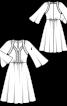 Сукня відрізна з декоративними планками - фото 3