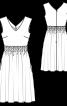 Сукня приталеного крою з буфами - фото 3