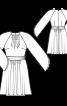 Сукня з рукавами реглан і пишною спідницею - фото 3