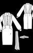 Сукня вінтажна зі знімним поясом і шарфом - фото 3