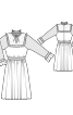 Сукня відрізна з кокетками і оборками - фото 3