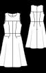 Сукня відрізна з декоративними клапанами у швах - фото 3