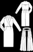 Сукня вінтажна зі знімною верхньою спідницею - фото 3