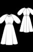 Сукня відрізна з пишними рукавами-ліхтариками - фото 3