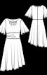 Сукня відрізна з рукавами-крильцями - фото 3